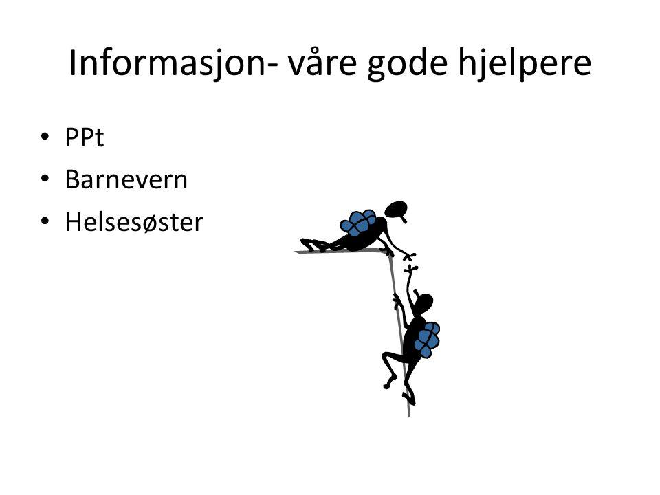 Informasjon- våre gode hjelpere