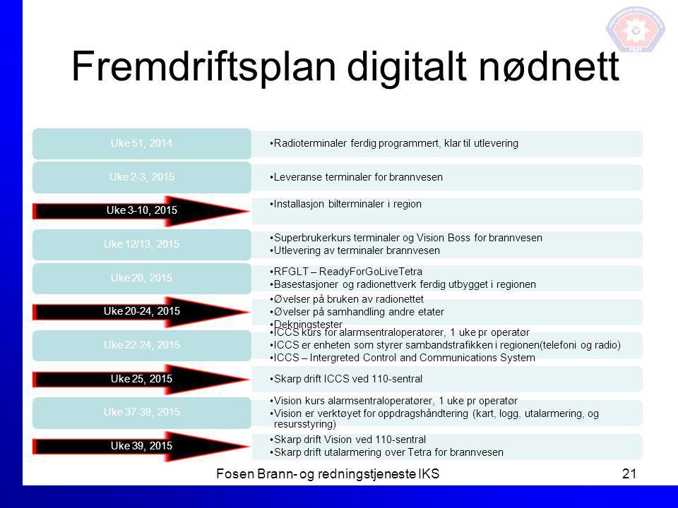 Fremdriftsplan digitalt nødnett