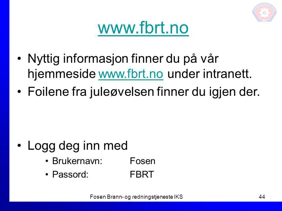 Fosen Brann- og redningstjeneste IKS