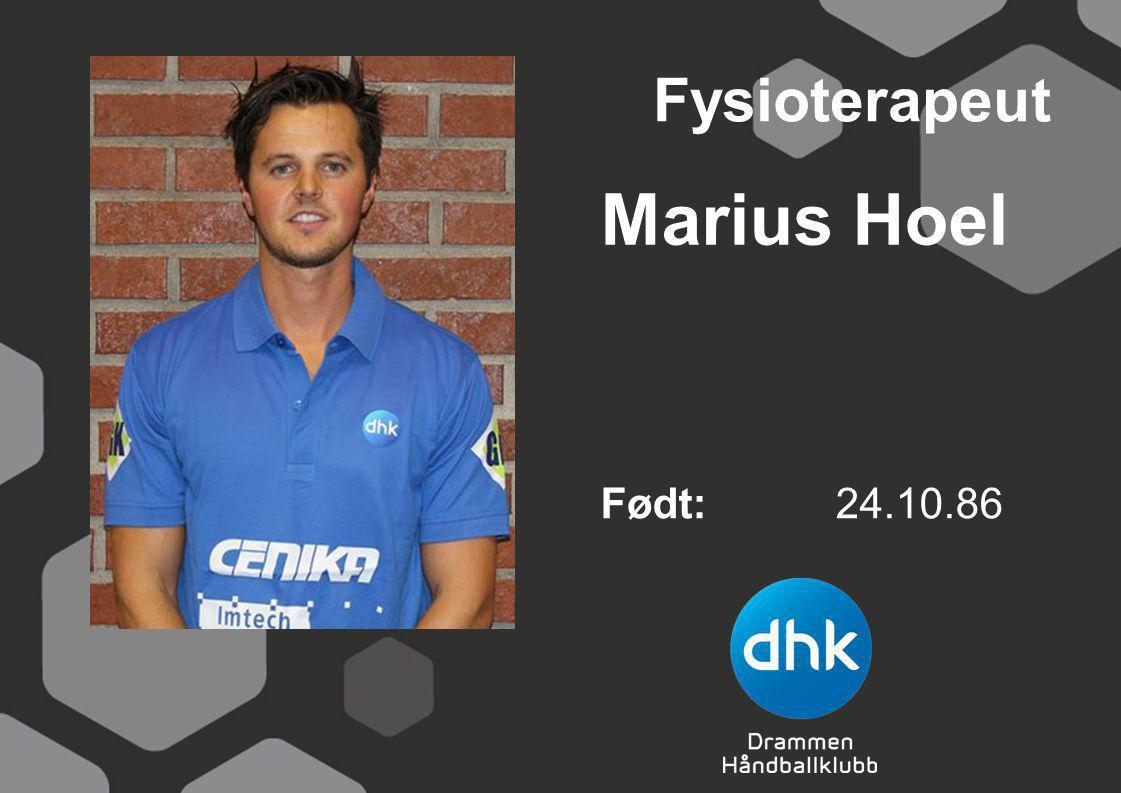Fysioterapeut Marius Hoel Født: 24.10.86