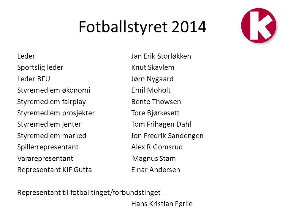 Fotballstyret 2014 Leder Jan Erik Storløkken