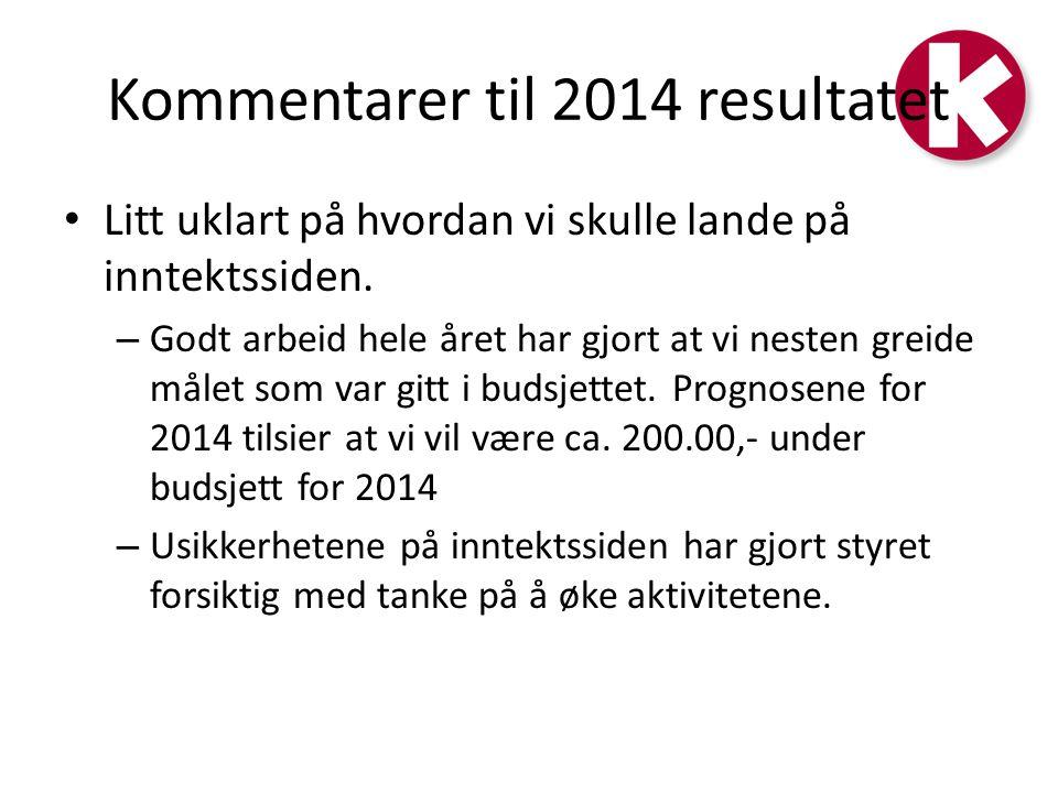Kommentarer til 2014 resultatet