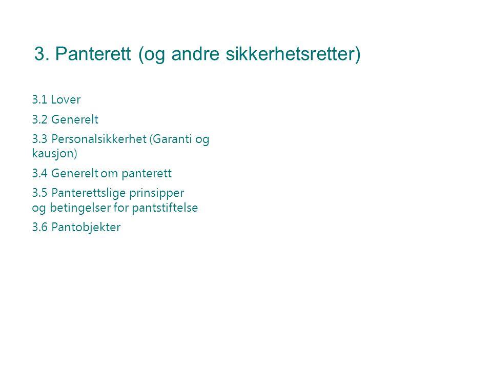 3. Panterett (og andre sikkerhetsretter)