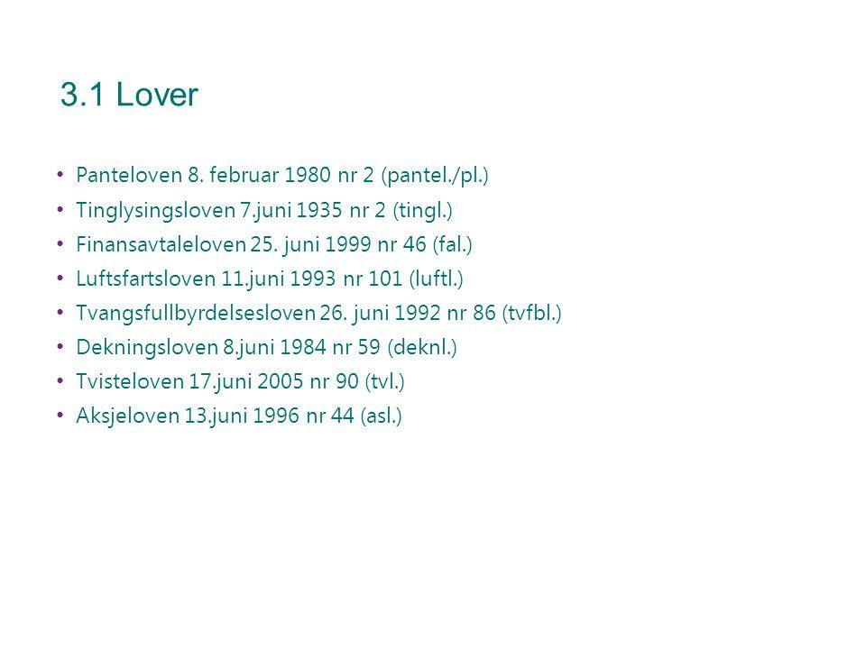 3.1 Lover Panteloven 8. februar 1980 nr 2 (pantel./pl.)