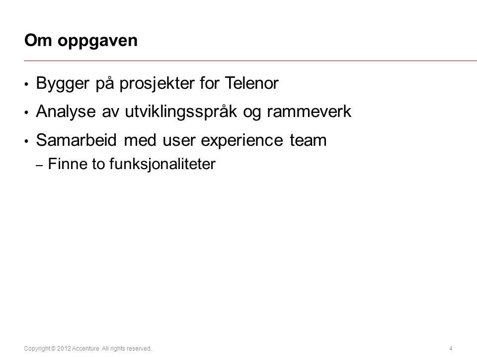 Bygger på prosjekter for Telenor