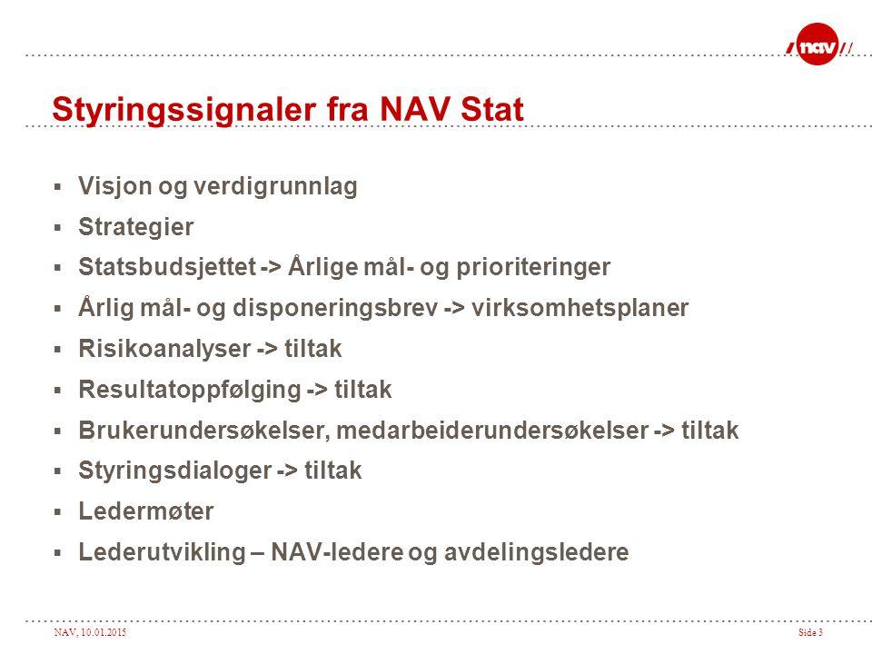Styringssignaler fra NAV Stat