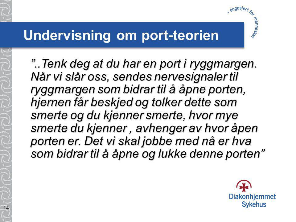 Undervisning om port-teorien