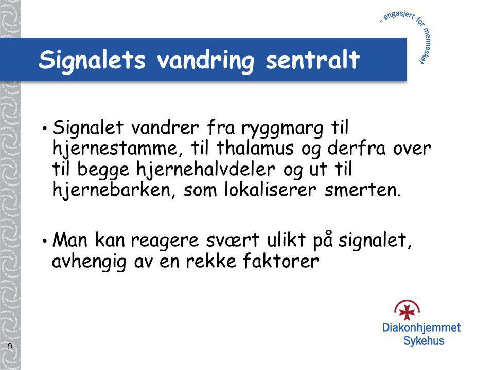 Signalets vandring sentralt