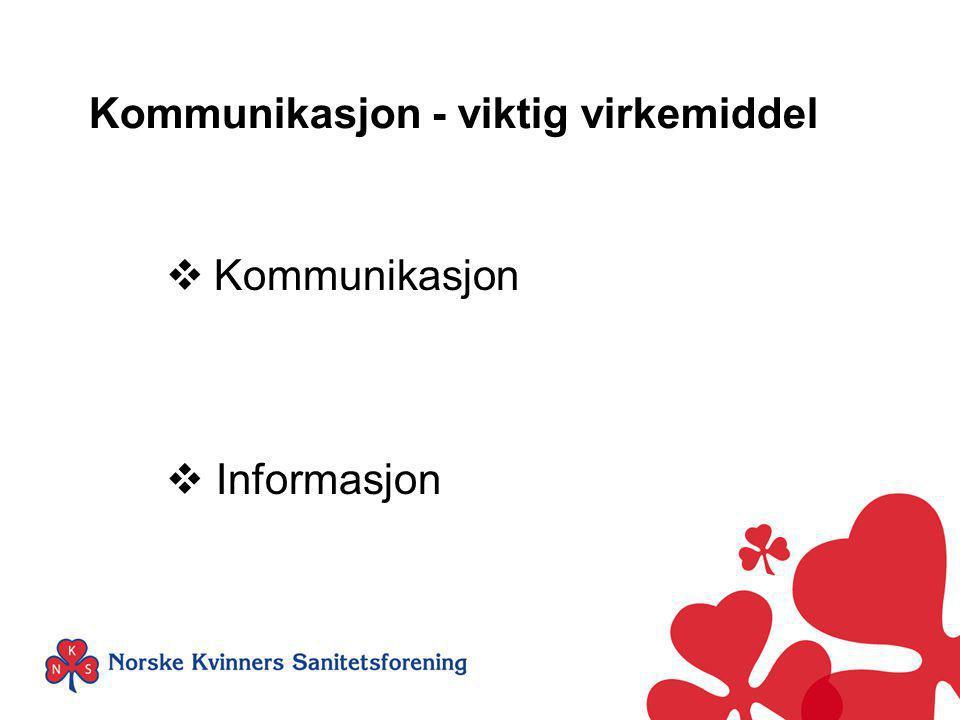 Kommunikasjon - viktig virkemiddel