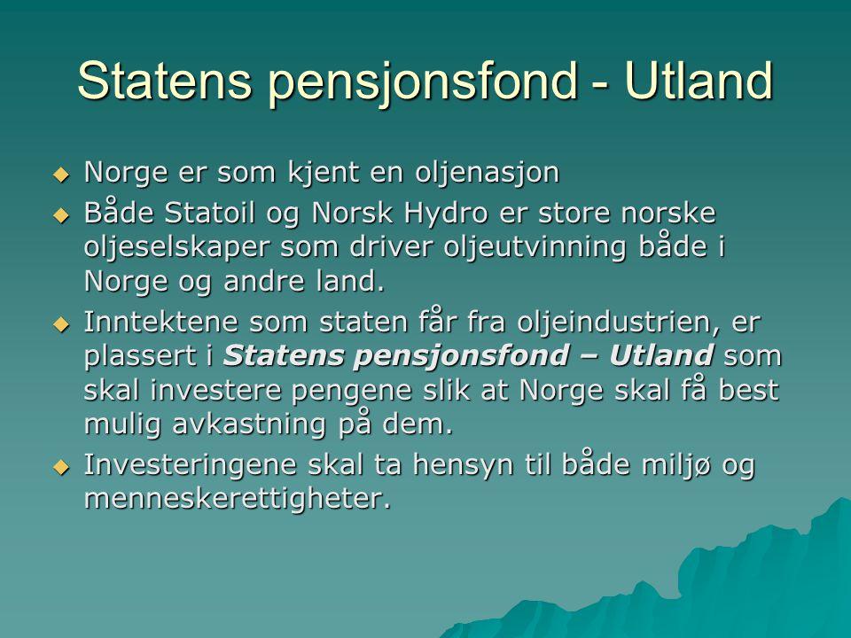 Statens pensjonsfond - Utland