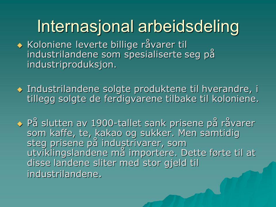 Internasjonal arbeidsdeling