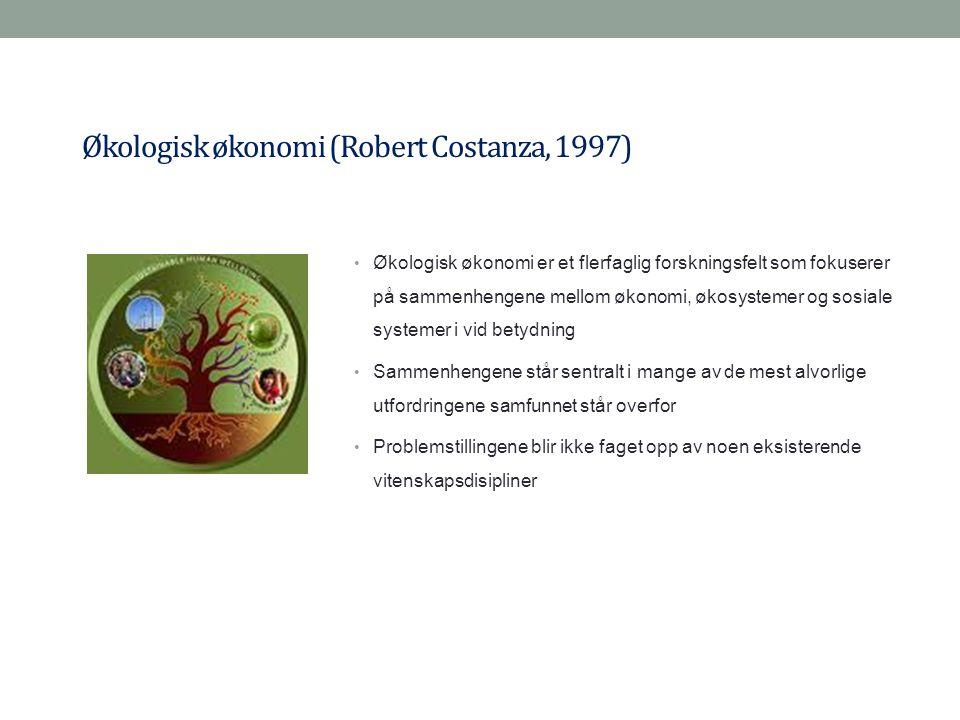 Økologisk økonomi (Robert Costanza, 1997)