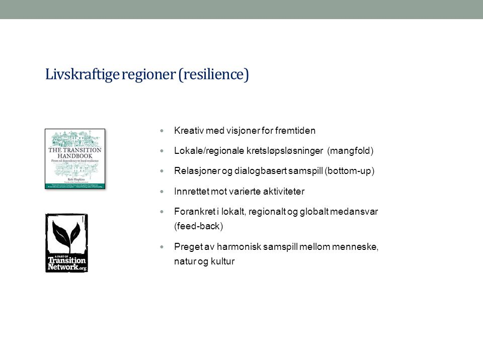 Livskraftige regioner (resilience)