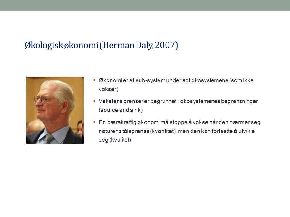 Økologisk økonomi (Herman Daly, 2007)