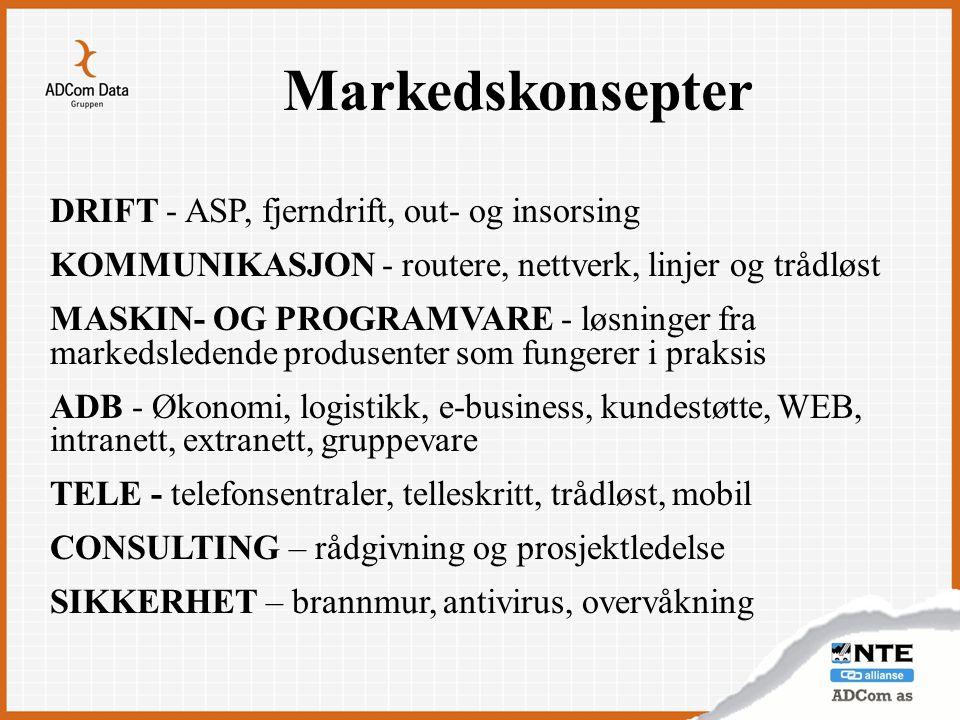 Markedskonsepter DRIFT - ASP, fjerndrift, out- og insorsing
