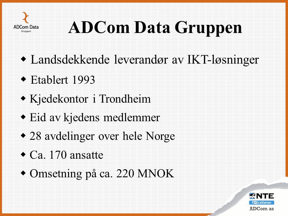 ADCom Data Gruppen Landsdekkende leverandør av IKT-løsninger