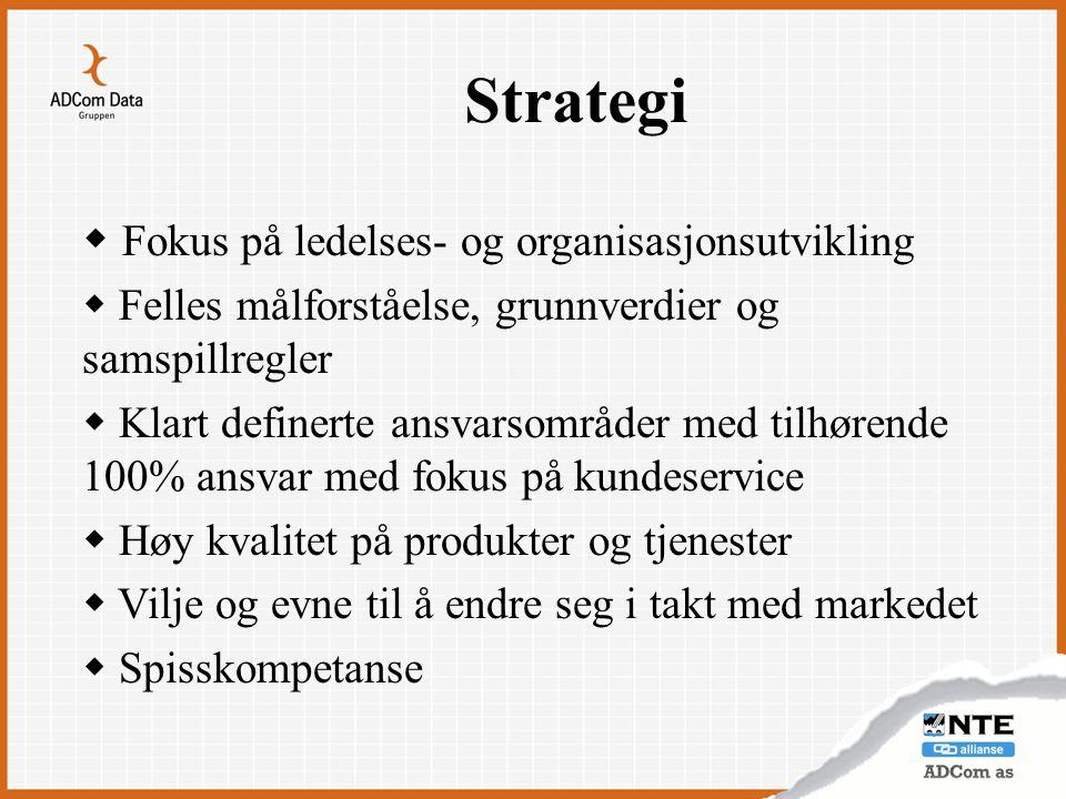 Strategi Fokus på ledelses- og organisasjonsutvikling