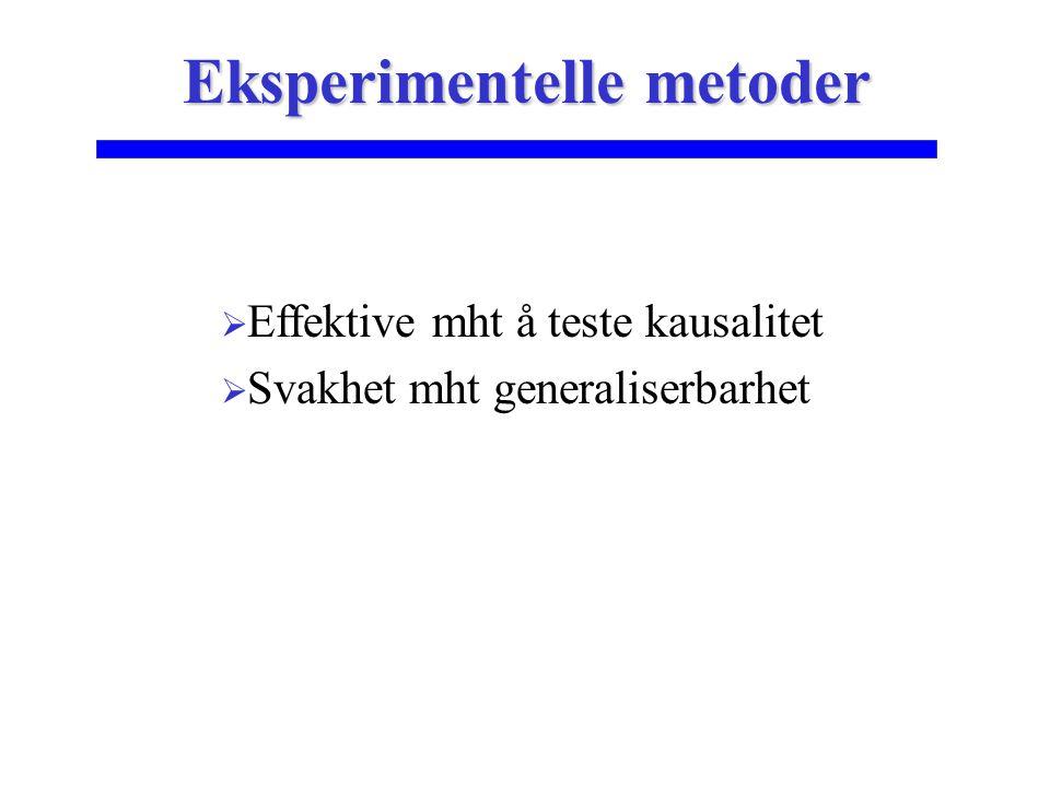 Eksperimentelle metoder