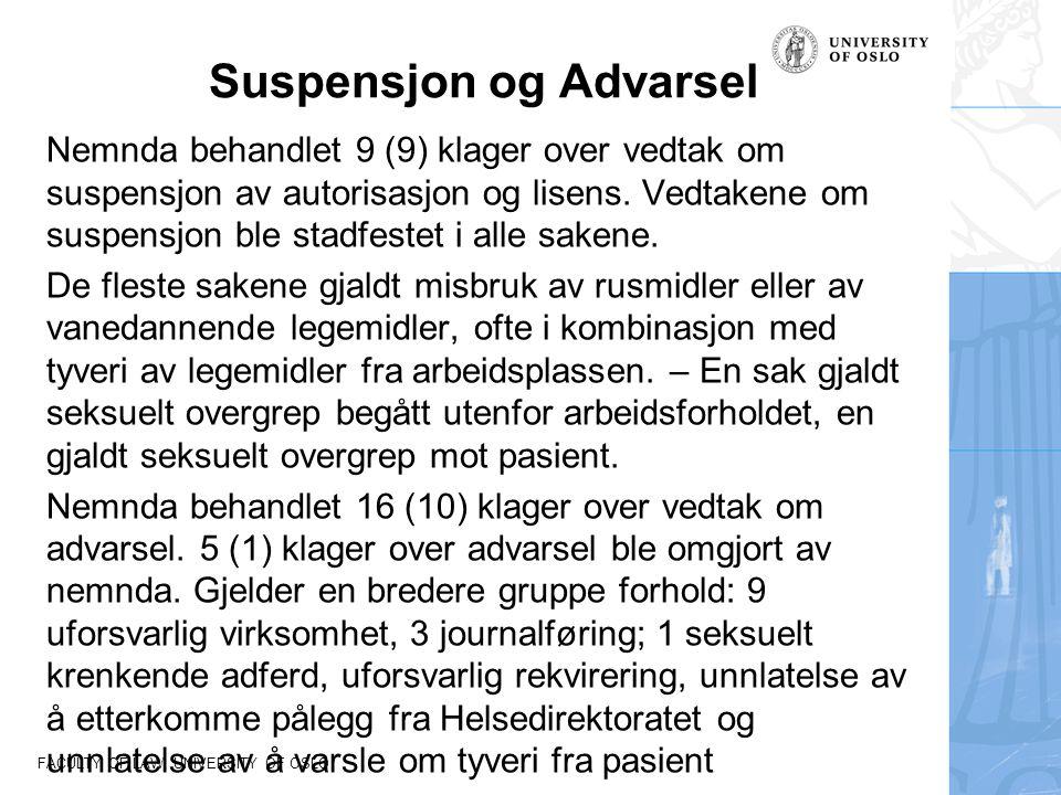 Suspensjon og Advarsel