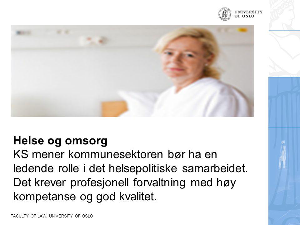 Helse og omsorg KS mener kommunesektoren bør ha en ledende rolle i det helsepolitiske samarbeidet.