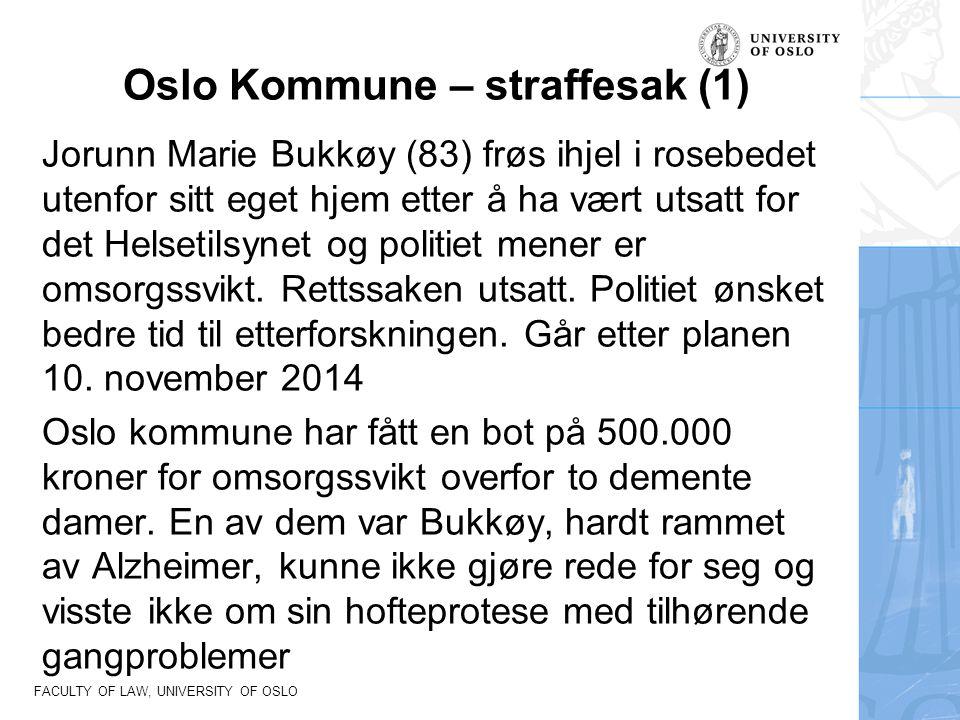 Oslo Kommune – straffesak (1)