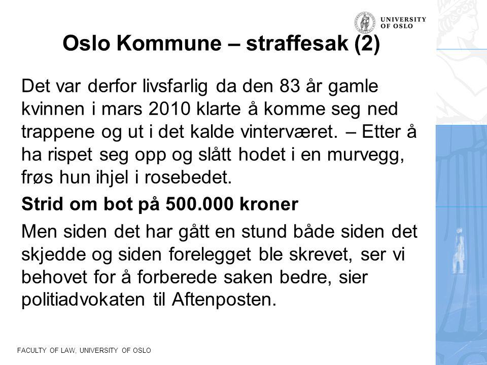 Oslo Kommune – straffesak (2)