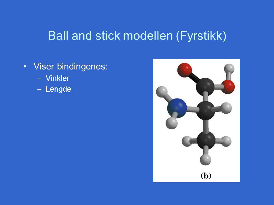 Ball and stick modellen (Fyrstikk)