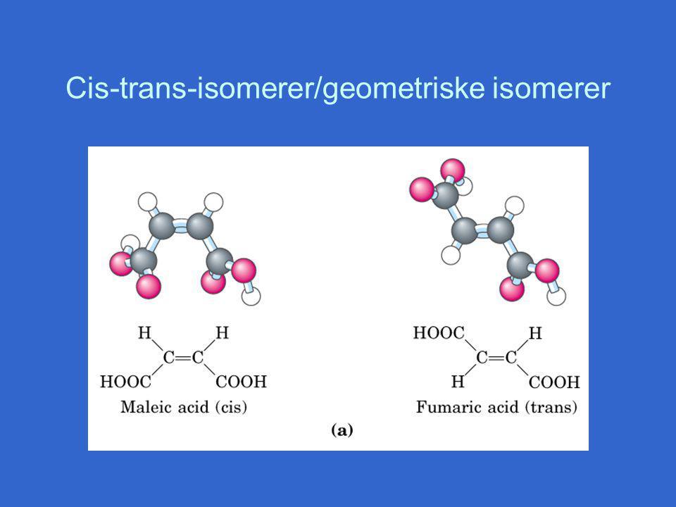 Cis-trans-isomerer/geometriske isomerer