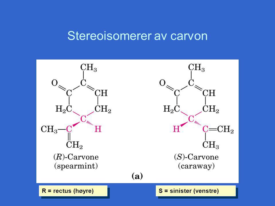 Stereoisomerer av carvon