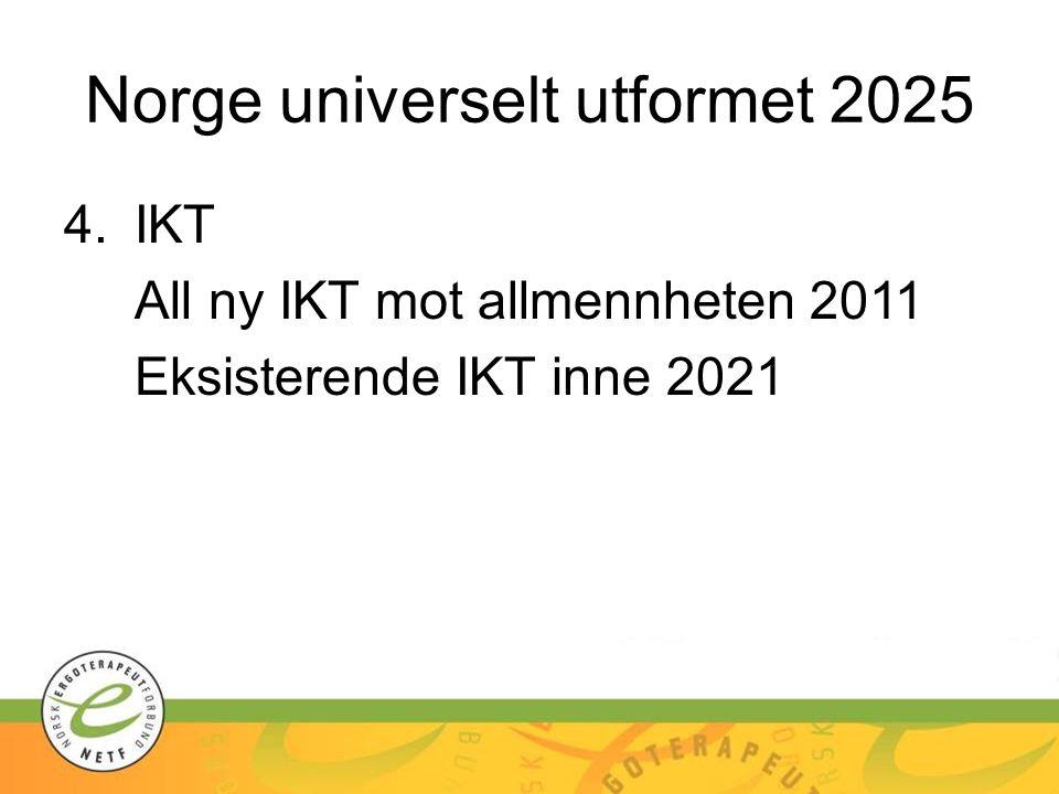 Norge universelt utformet 2025