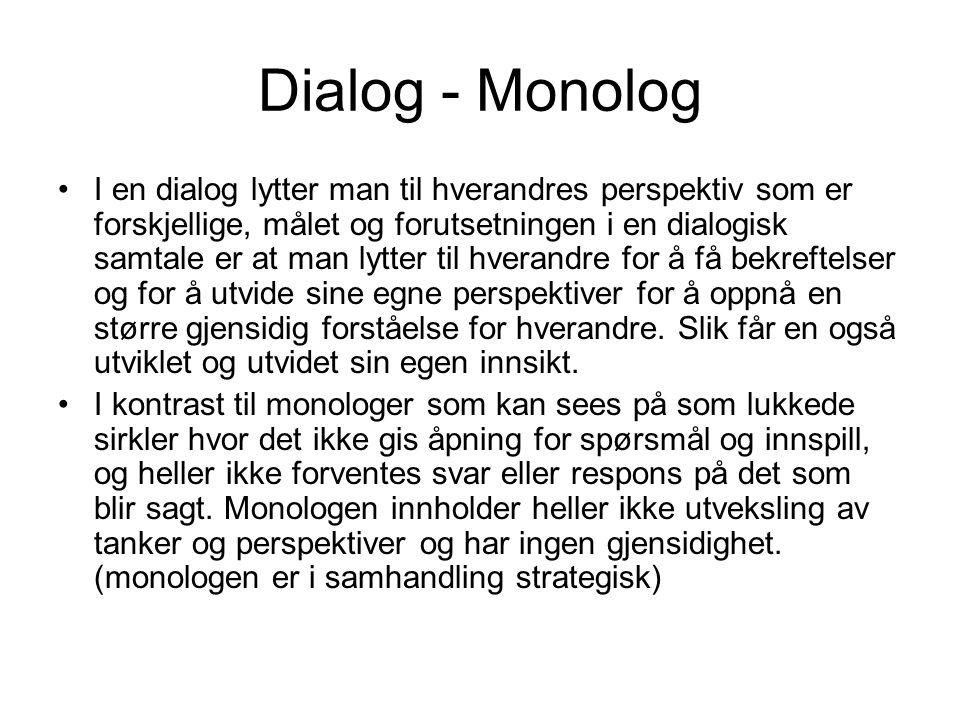 Dialog - Monolog