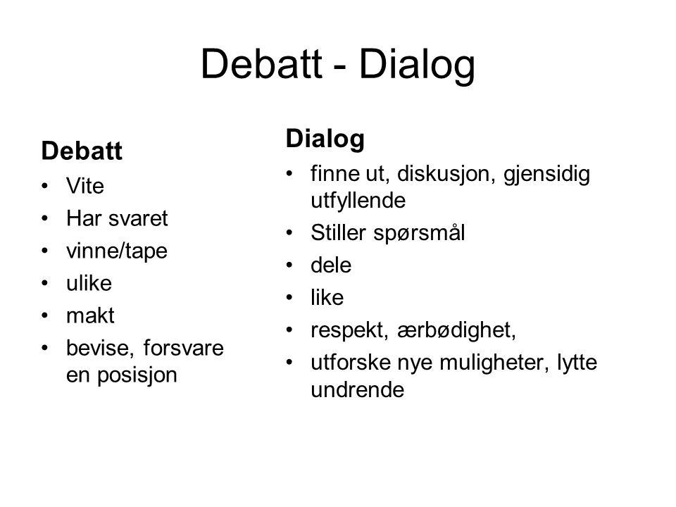 Debatt - Dialog Dialog Debatt