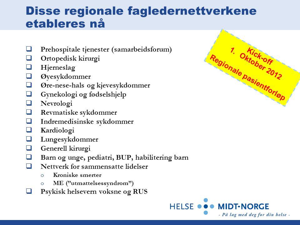 Disse regionale fagledernettverkene etableres nå