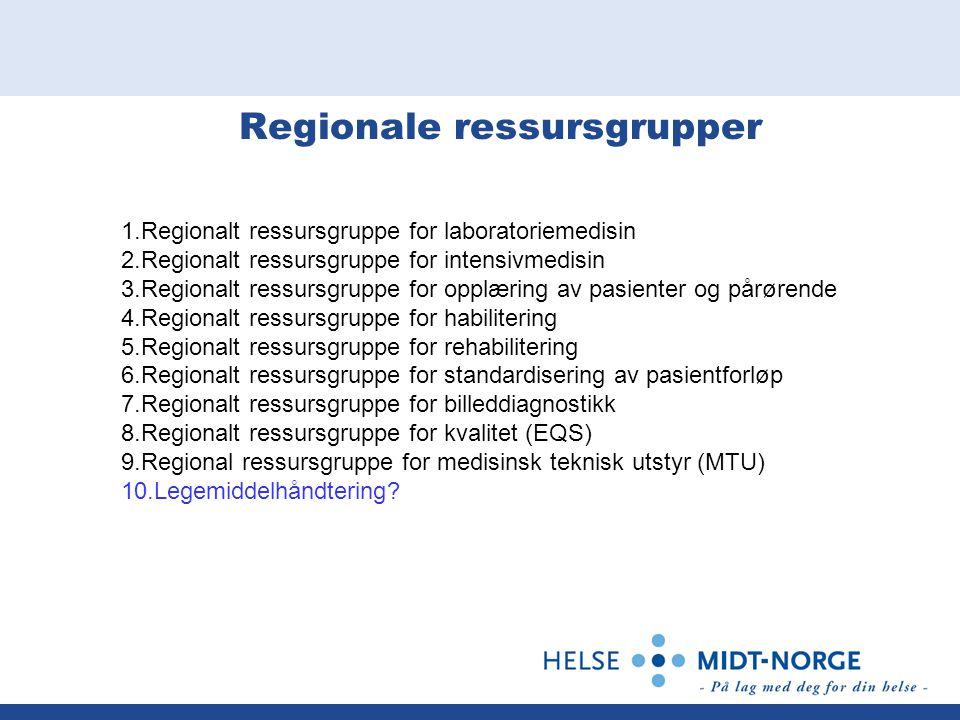 Regionale ressursgrupper