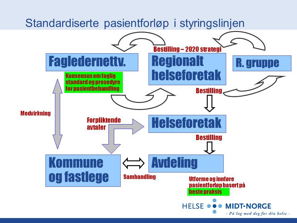 Standardiserte pasientforløp i styringslinjen