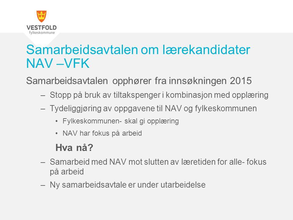 Samarbeidsavtalen om lærekandidater NAV –VFK