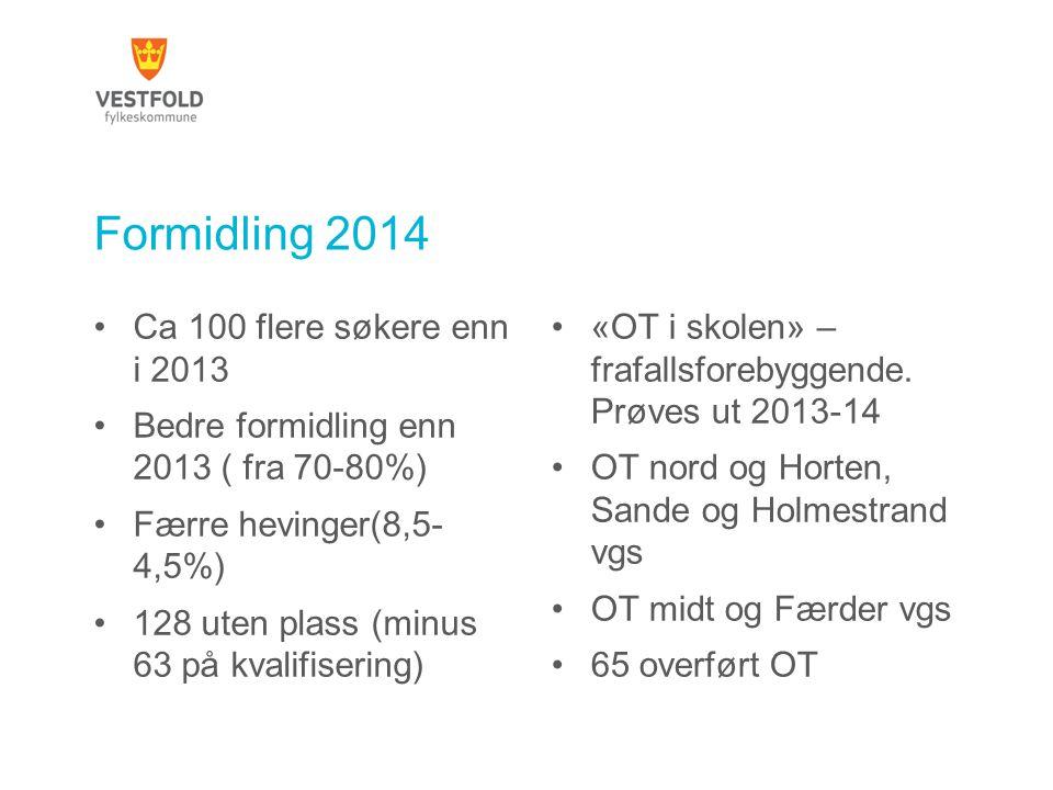 Formidling 2014 Ca 100 flere søkere enn i 2013