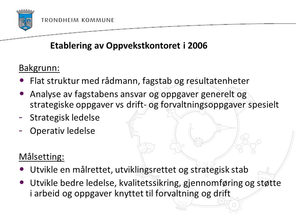 Etablering av Oppvekstkontoret i 2006