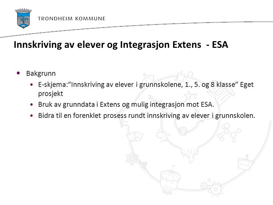 Innskriving av elever og Integrasjon Extens - ESA