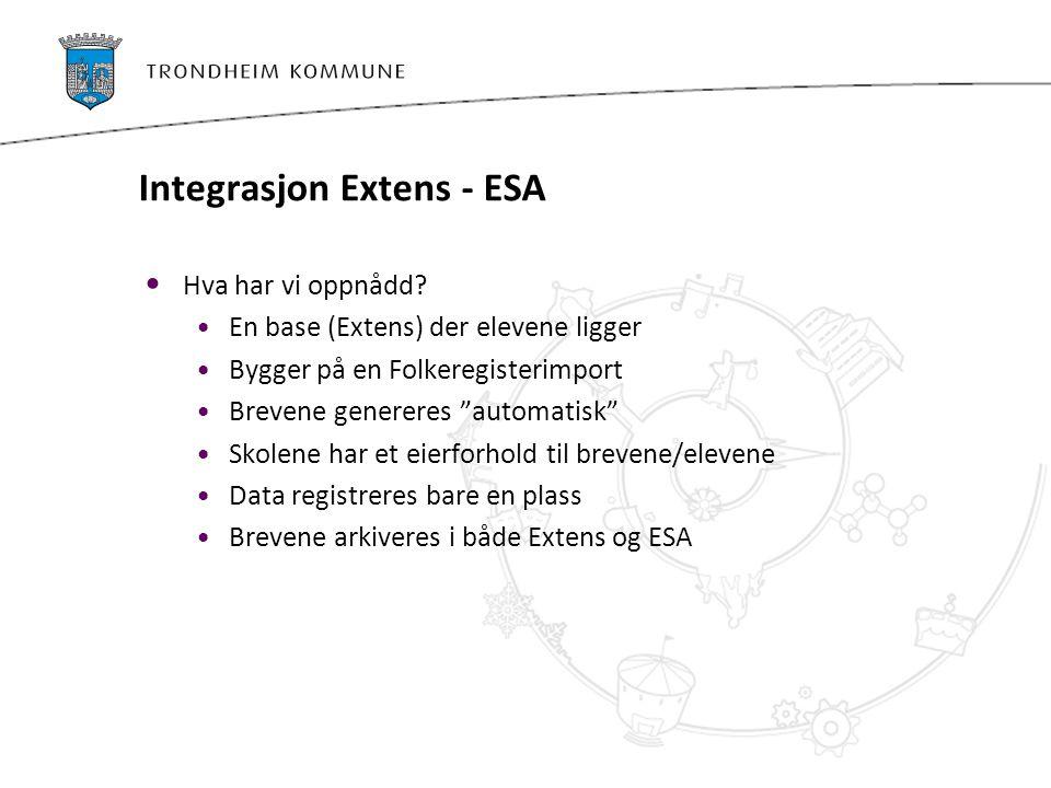 Integrasjon Extens - ESA