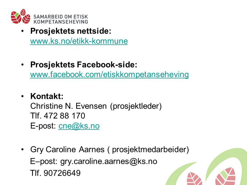 Prosjektets nettside: www.ks.no/etikk-kommune