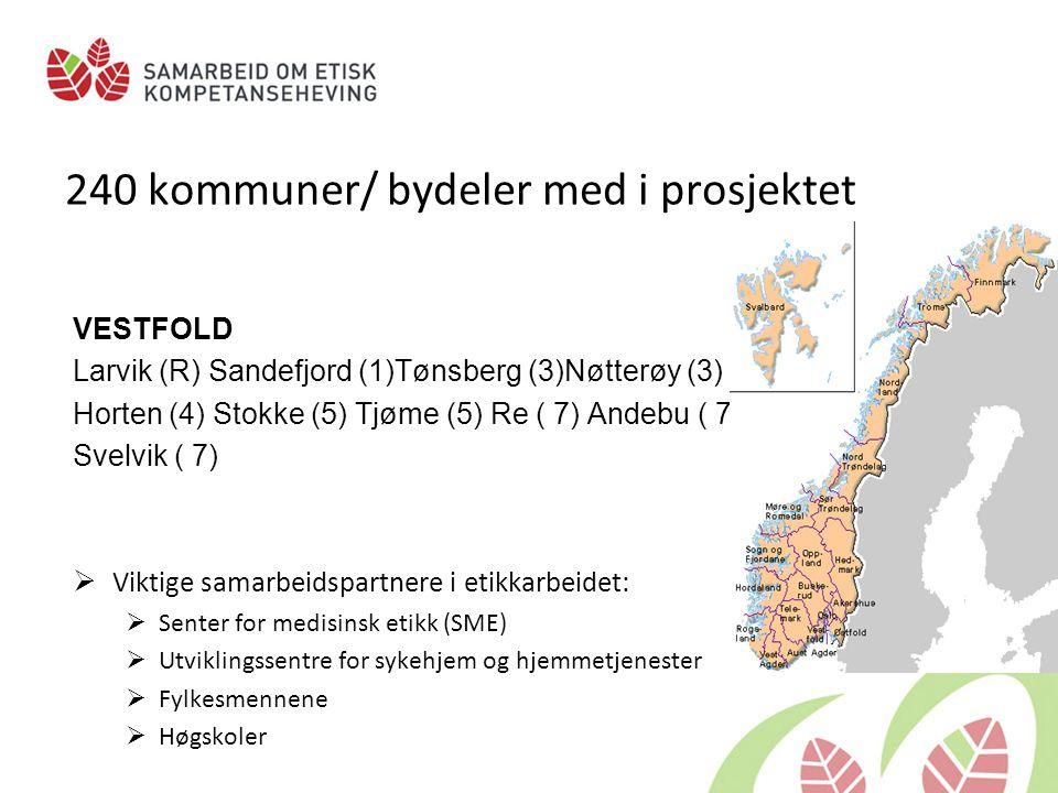 240 kommuner/ bydeler med i prosjektet
