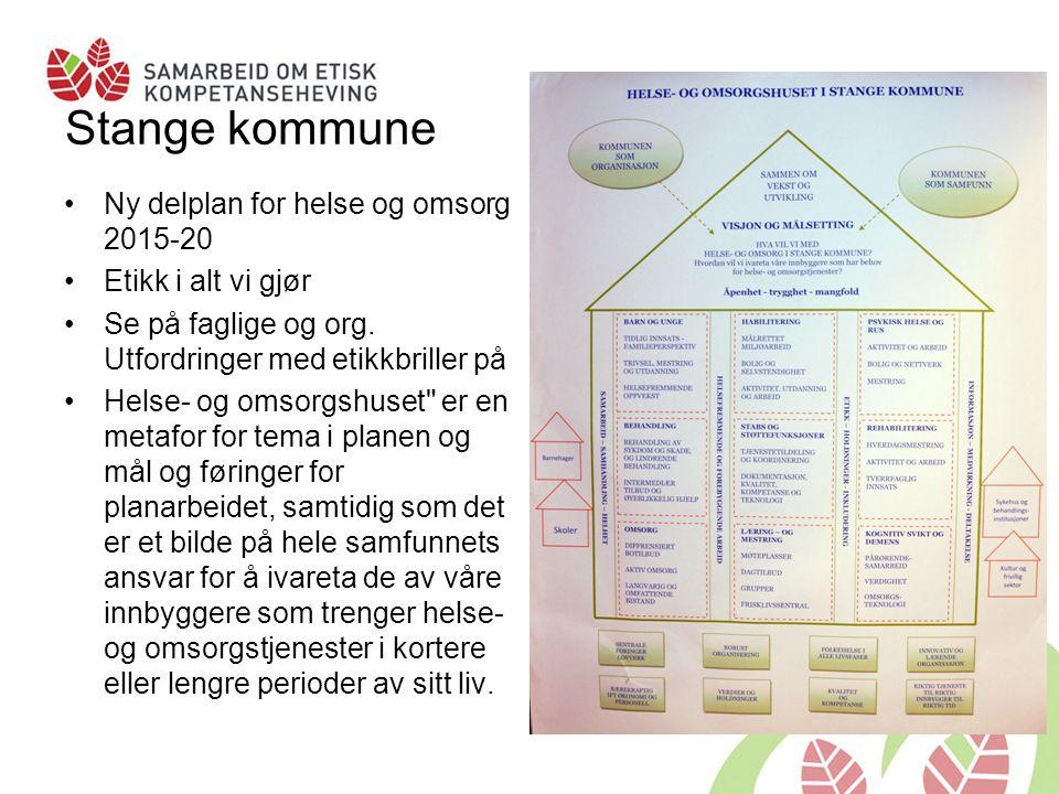Stange kommune Ny delplan for helse og omsorg 2015-20