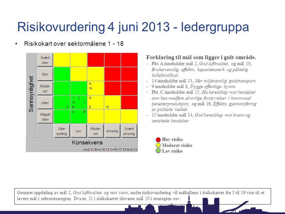 Risikovurdering 4 juni 2013 - ledergruppa