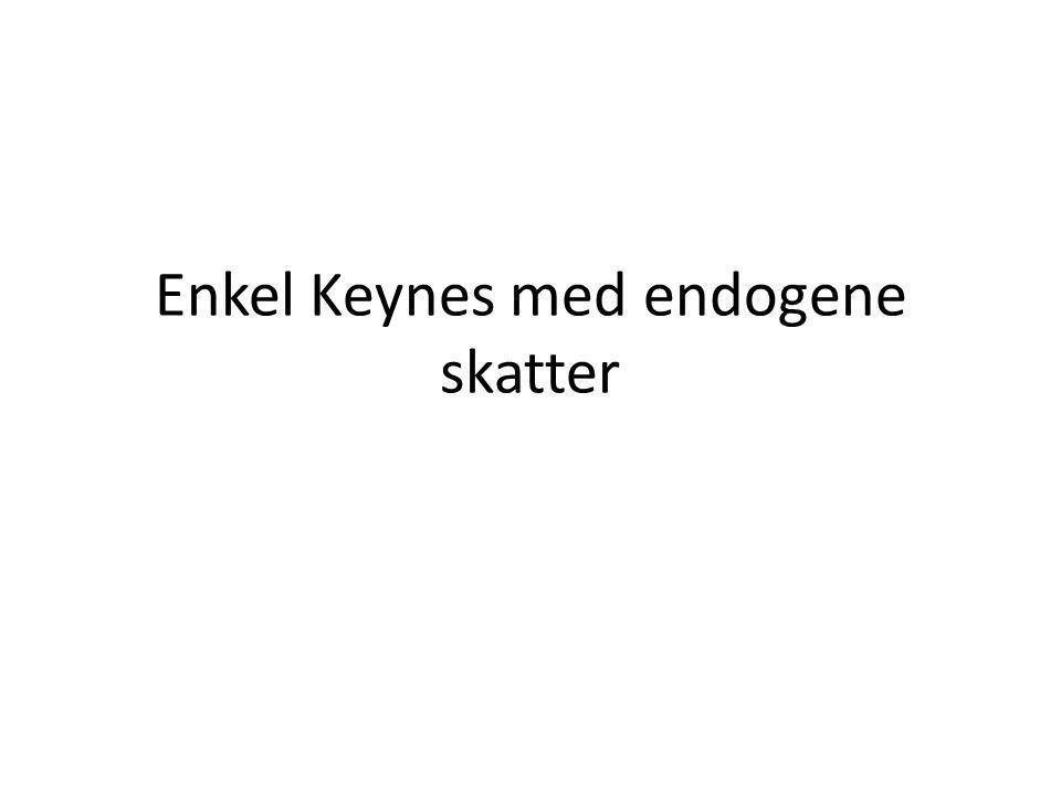 Enkel Keynes med endogene skatter