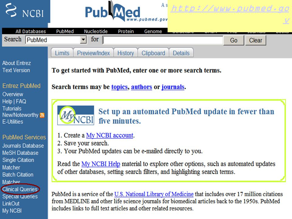http://www.pubmed.gov 33