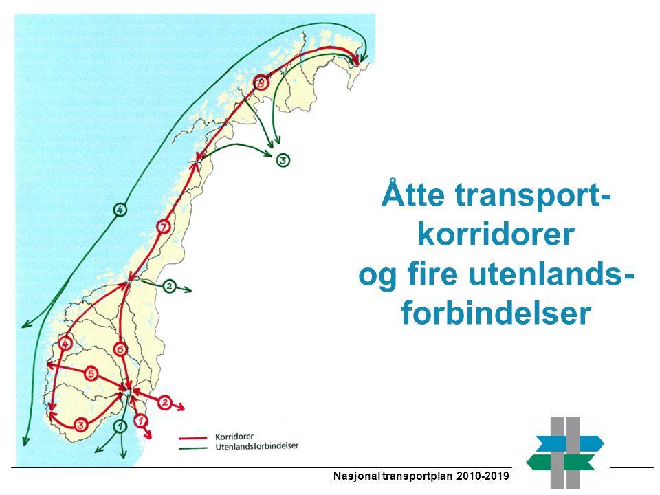 Åtte transport- korridorer og fire utenlands- forbindelser