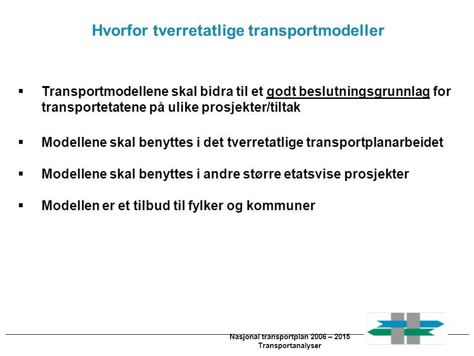 Hvorfor tverretatlige transportmodeller