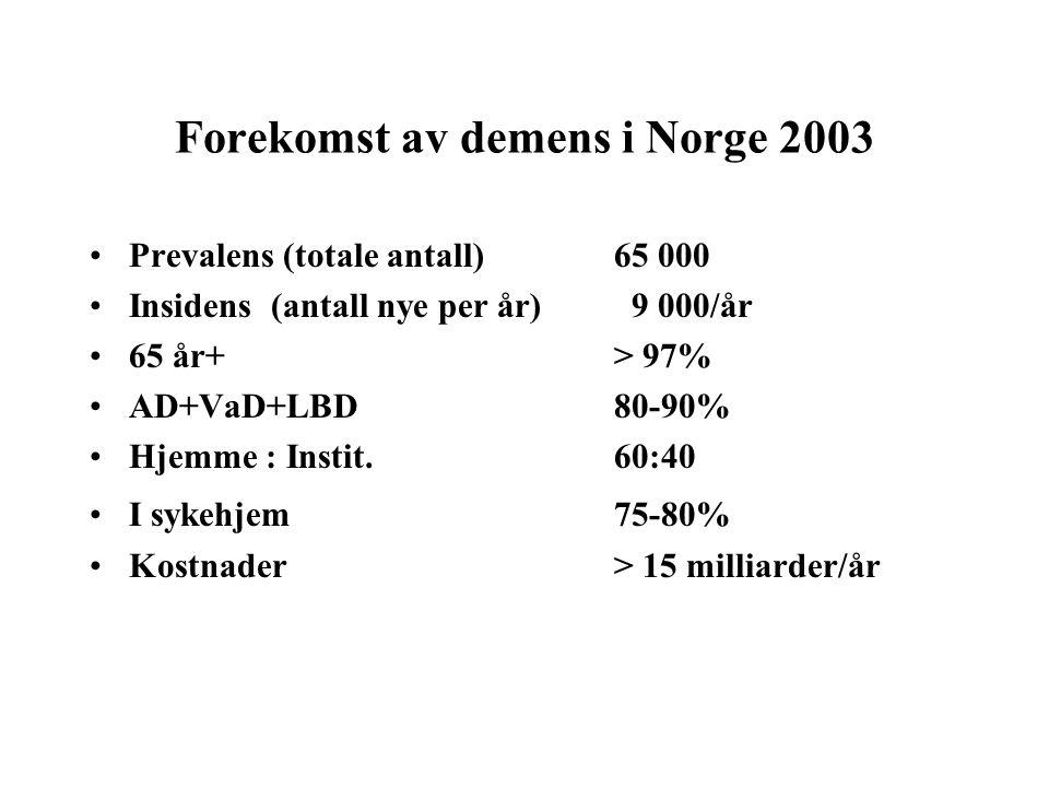 Forekomst av demens i Norge 2003