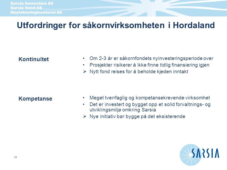 Utfordringer for såkornvirksomheten i Hordaland